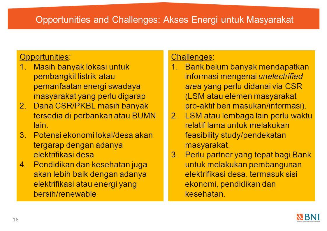 Opportunities and Challenges: Akses Energi untuk Masyarakat