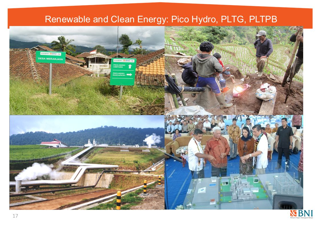 Renewable and Clean Energy: Pico Hydro, PLTG, PLTPB
