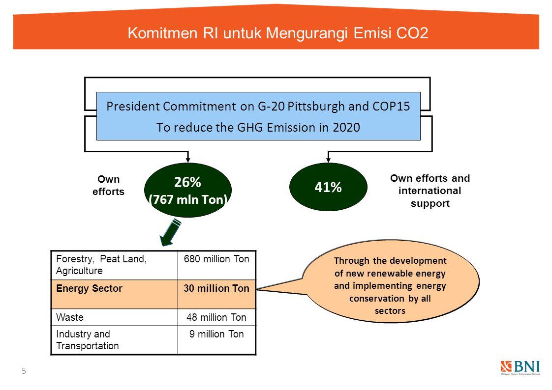 Komitmen RI untuk Mengurangi Emisi CO2