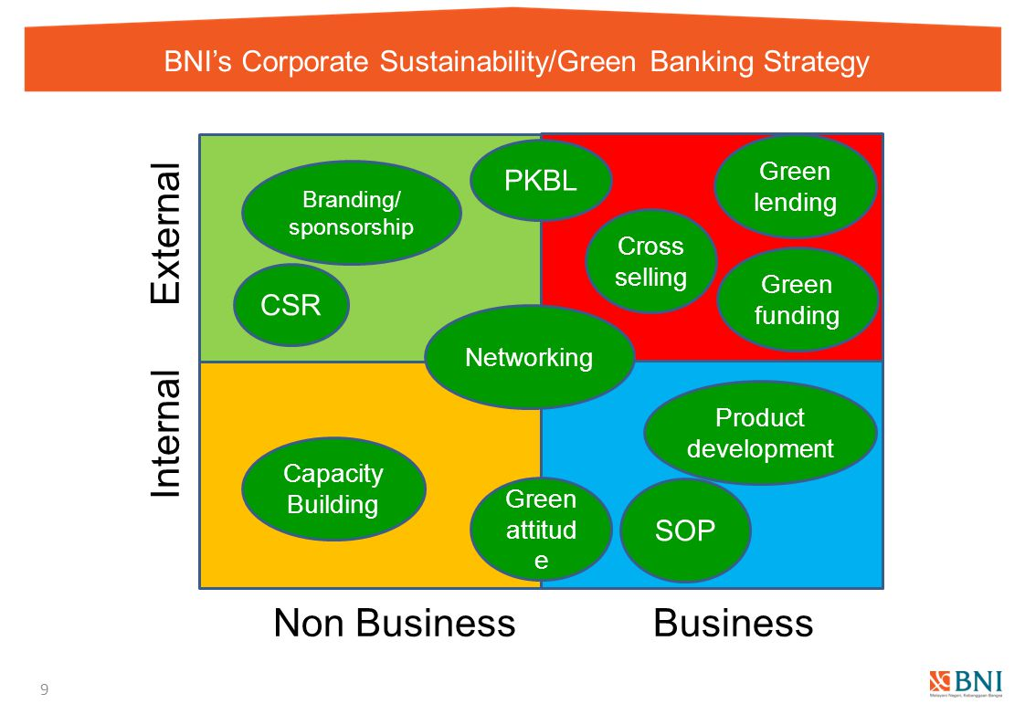 BNI's Corporate Sustainability/Green Banking Strategy
