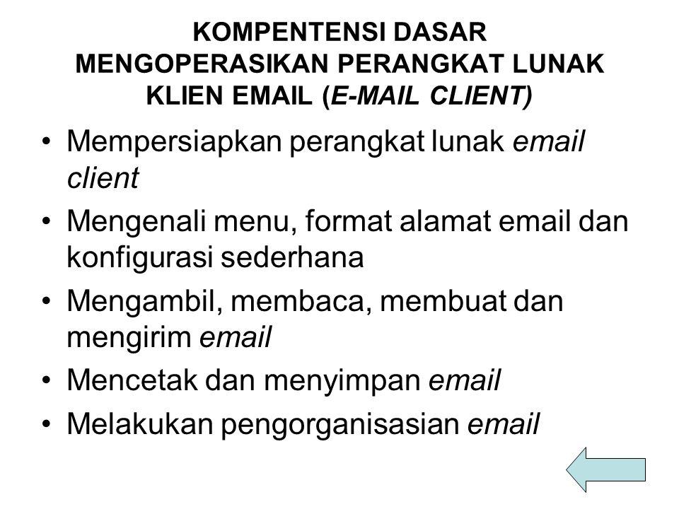 Mempersiapkan perangkat lunak email client
