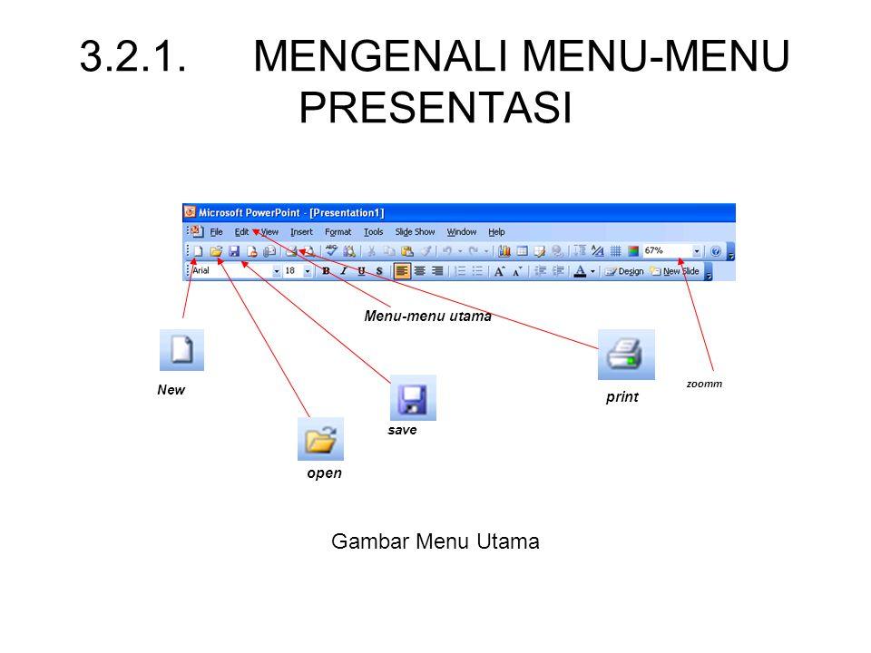 3.2.1. MENGENALI MENU-MENU PRESENTASI