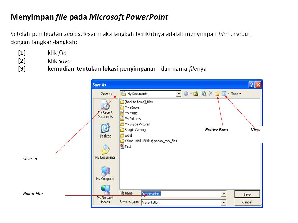 Menyimpan file pada Microsoft PowerPoint