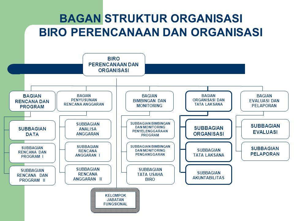 BAGAN STRUKTUR ORGANISASI BIRO PERENCANAAN DAN ORGANISASI
