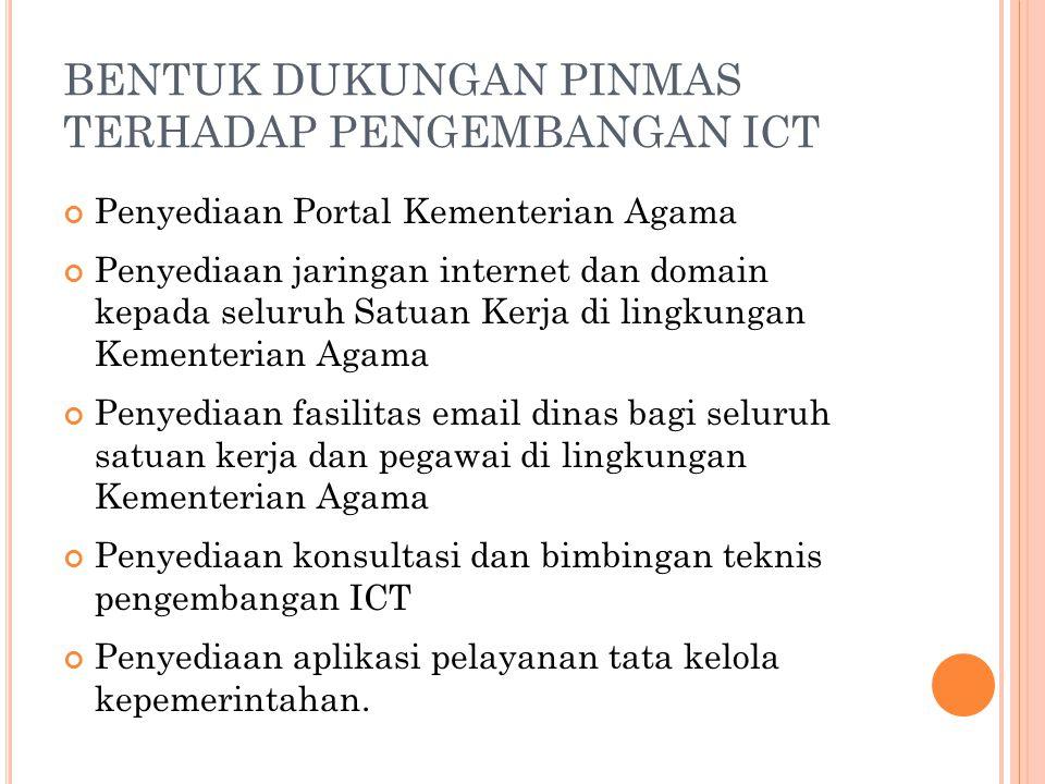 BENTUK DUKUNGAN PINMAS TERHADAP PENGEMBANGAN ICT