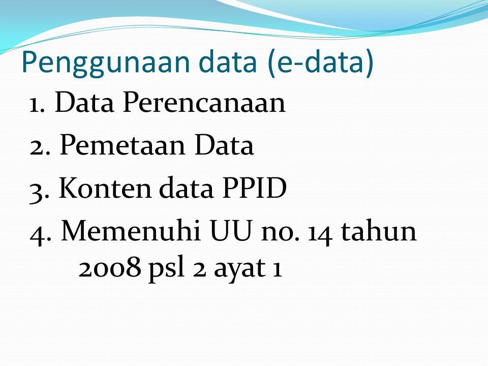 Penggunaan data (e-data)