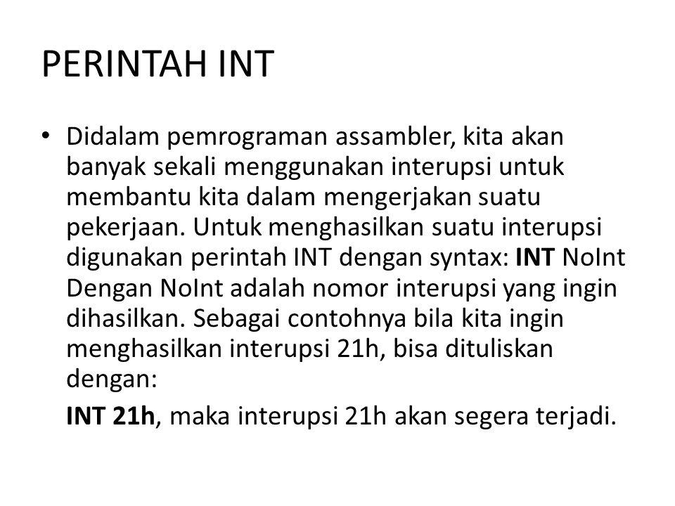 PERINTAH INT