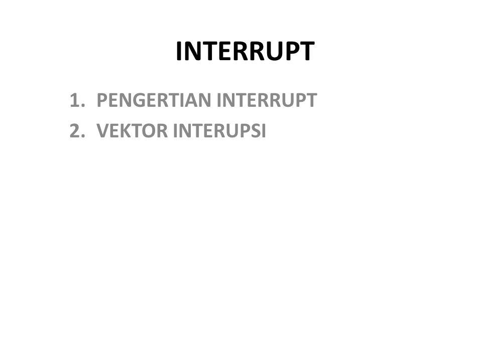 PENGERTIAN INTERRUPT VEKTOR INTERUPSI