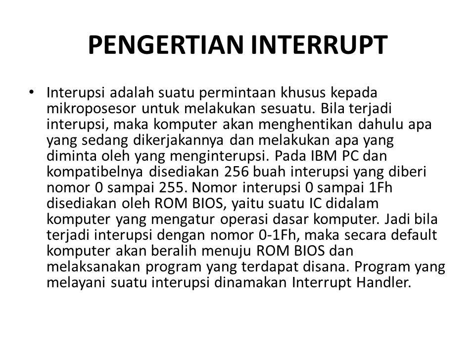 PENGERTIAN INTERRUPT