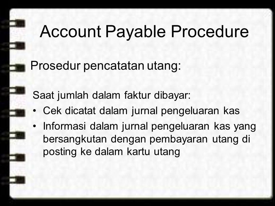 Account Payable Procedure