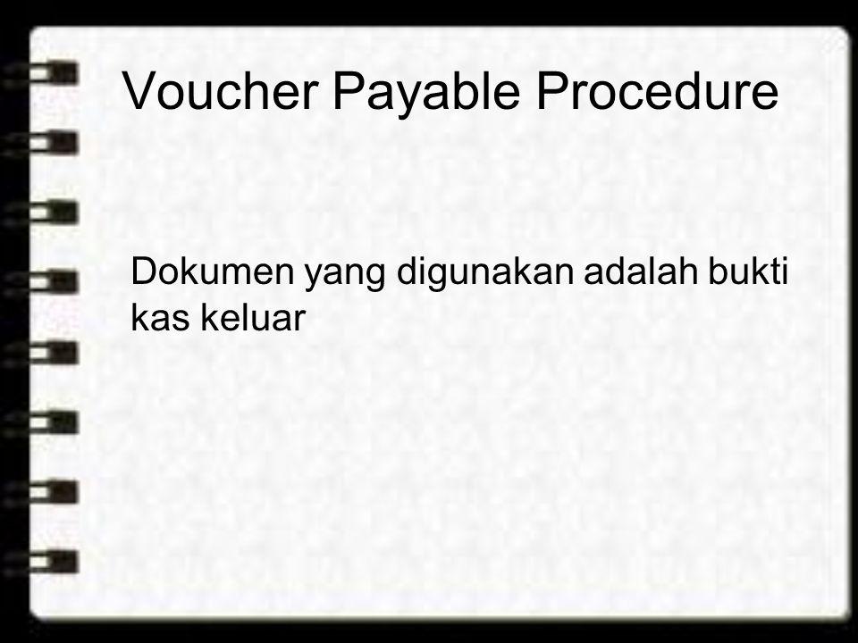 Voucher Payable Procedure