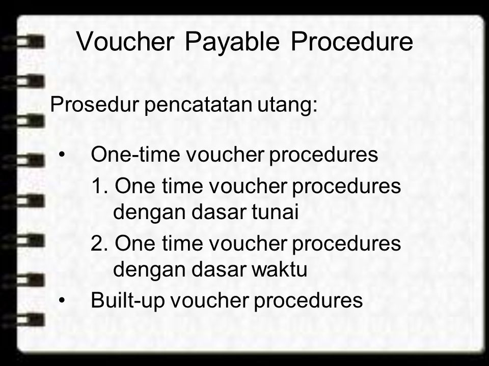 Voucher Payable Procedure