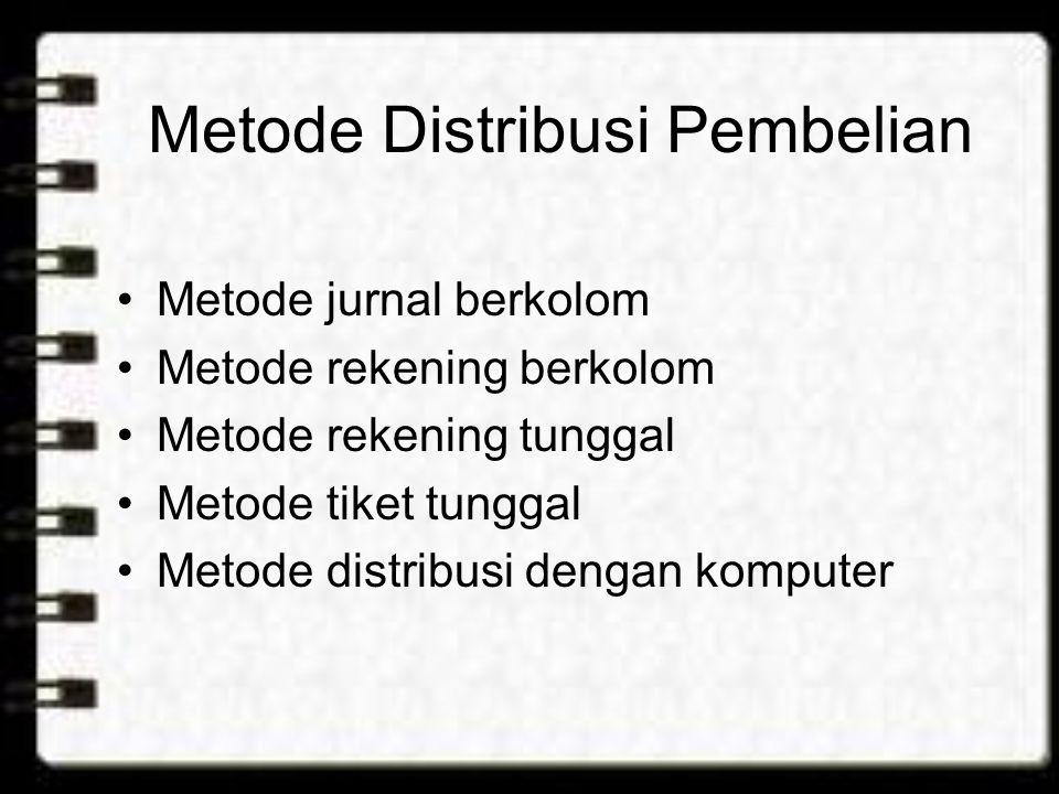 Metode Distribusi Pembelian