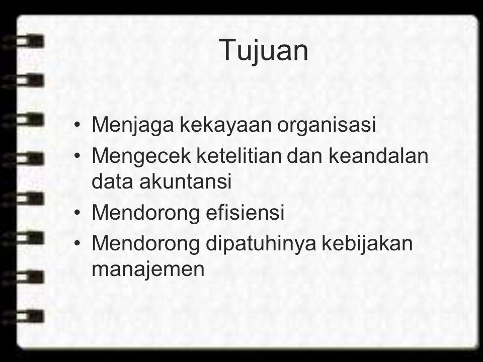 Tujuan Menjaga kekayaan organisasi
