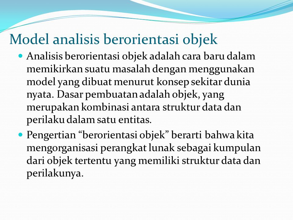 Model analisis berorientasi objek