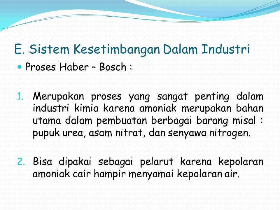 E. Sistem Kesetimbangan Dalam Industri