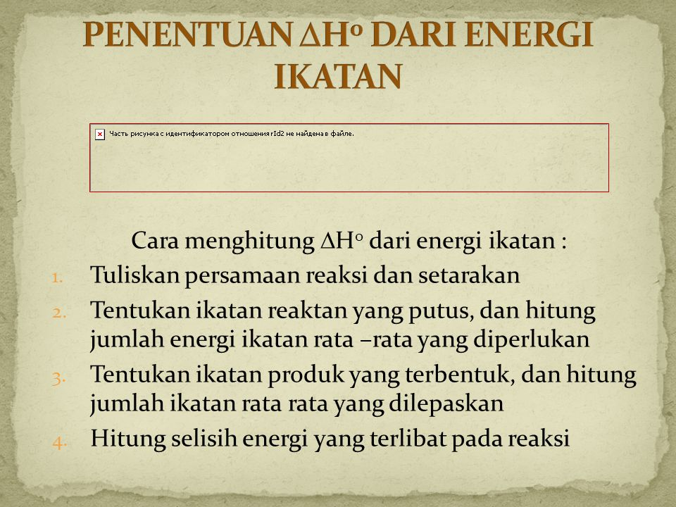 PENENTUAN H0 DARI ENERGI IKATAN