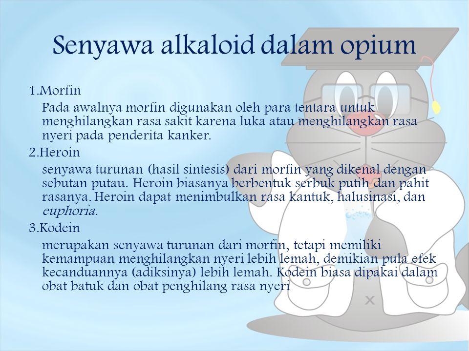 Senyawa alkaloid dalam opium