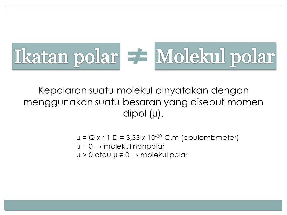 Ikatan polar Molekul polar