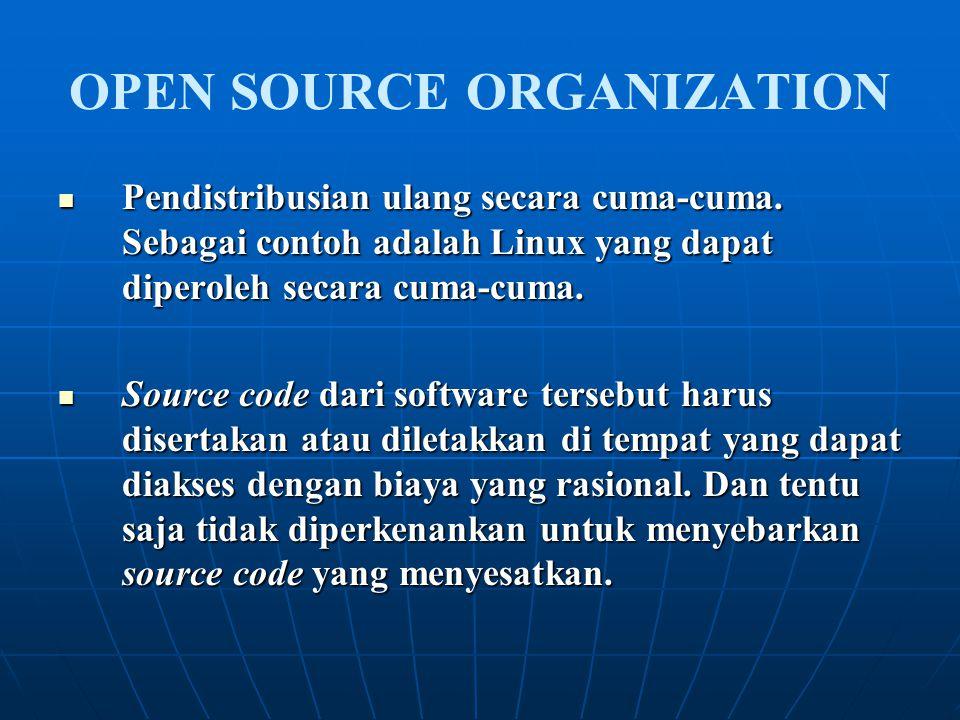 OPEN SOURCE ORGANIZATION