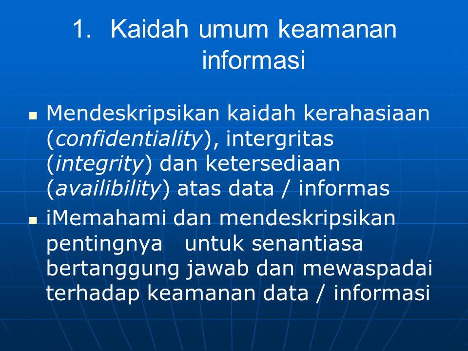 Kaidah umum keamanan informasi