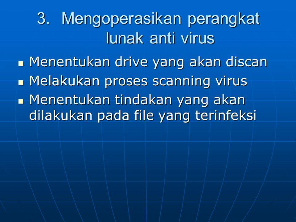 Mengoperasikan perangkat lunak anti virus