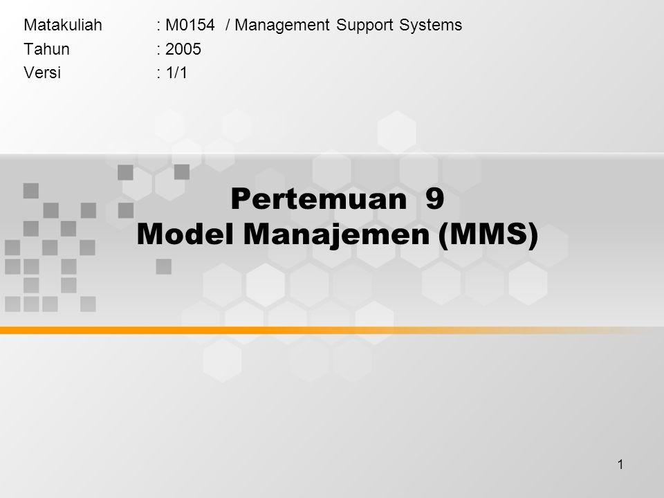 Pertemuan 9 Model Manajemen (MMS)