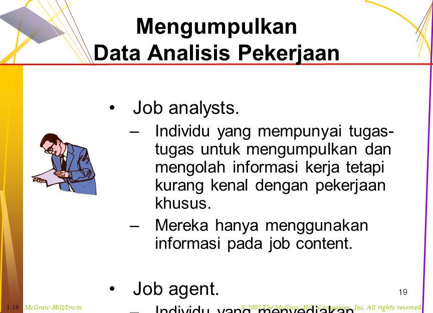 Mengumpulkan Data Analisis Pekerjaan