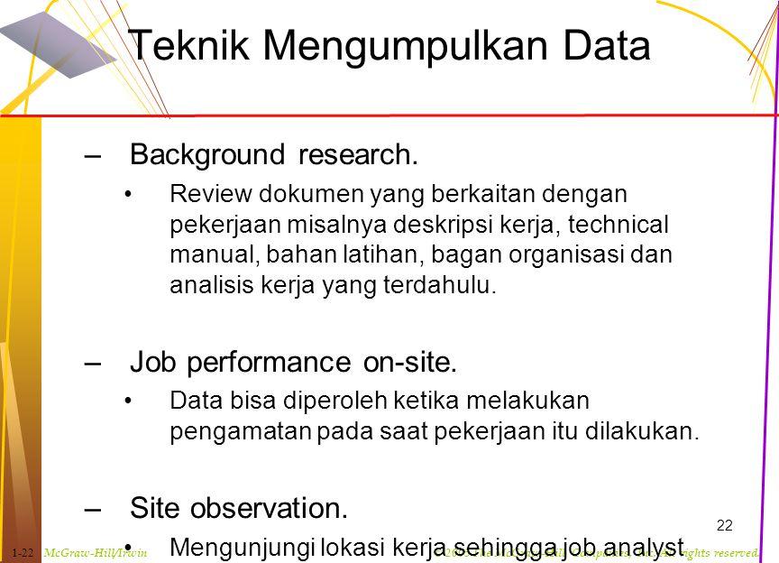 Teknik Mengumpulkan Data