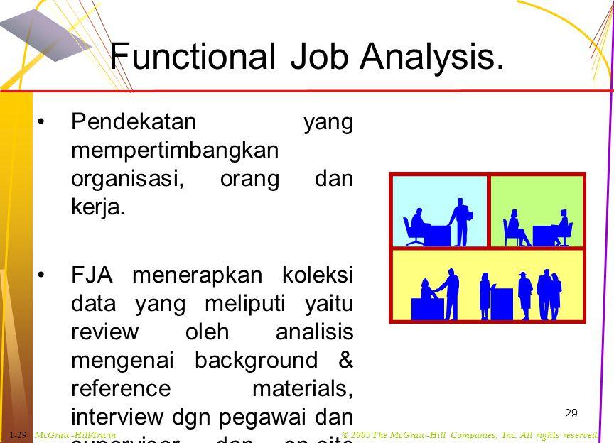 Functional Job Analysis.