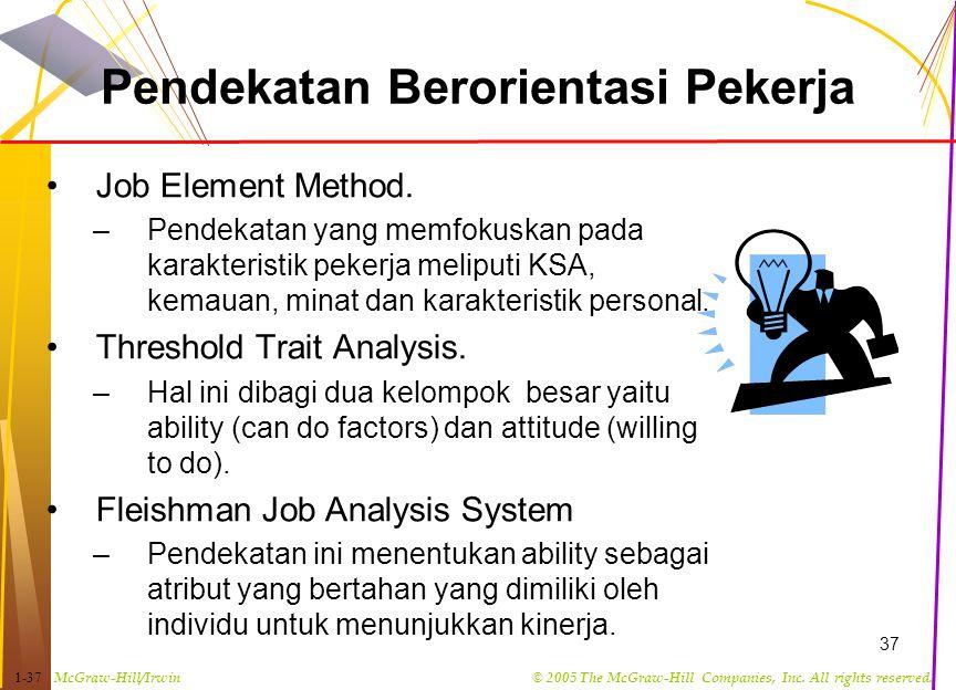 Pendekatan Berorientasi Pekerja