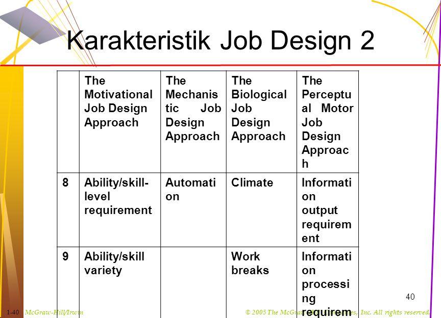 Karakteristik Job Design 2