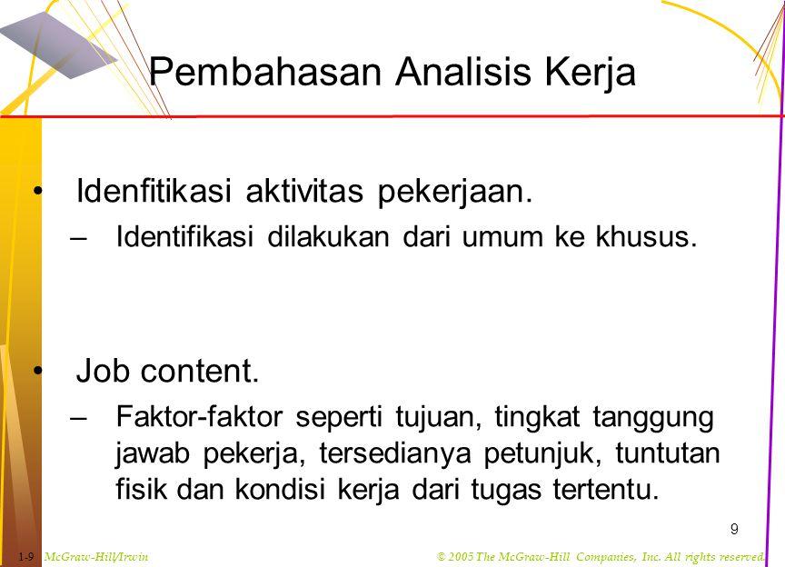 Pembahasan Analisis Kerja