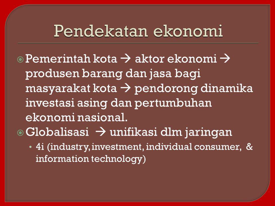 Pendekatan ekonomi