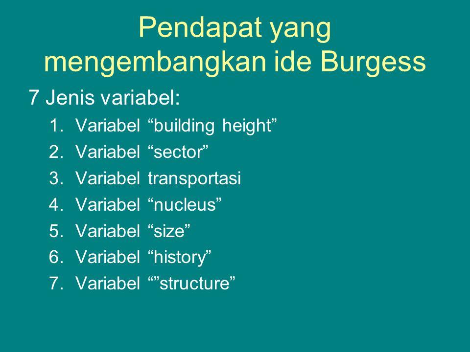 Pendapat yang mengembangkan ide Burgess