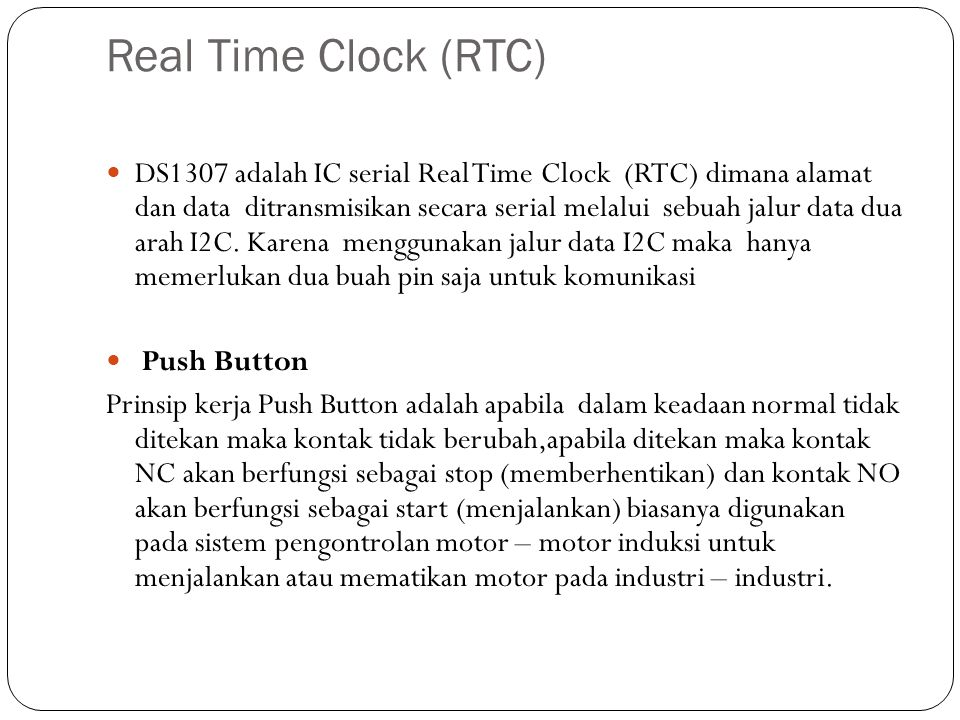 Real Time Clock (RTC)
