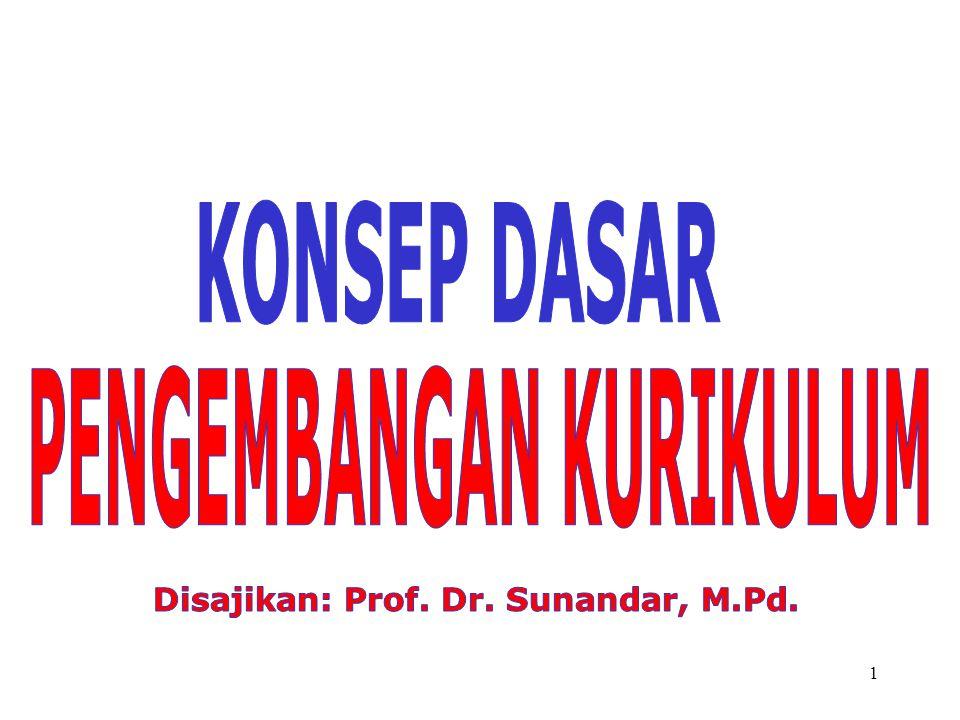 PENGEMBANGAN KURIKULUM Disajikan: Prof. Dr. Sunandar, M.Pd.