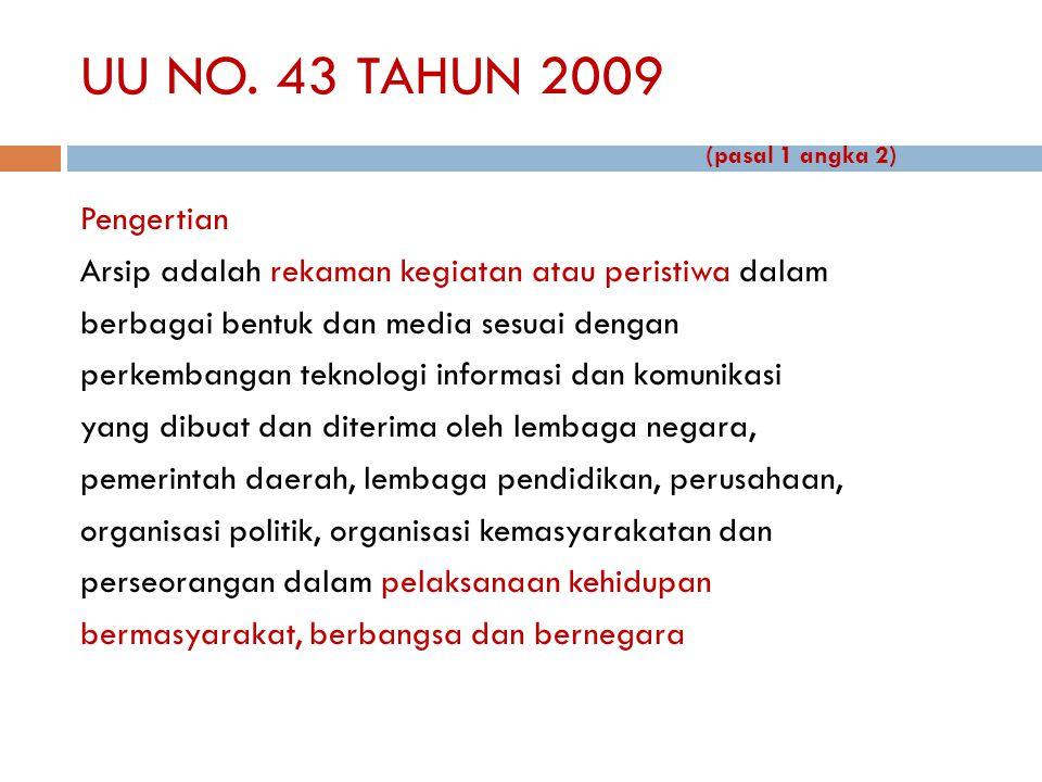 UU NO. 43 TAHUN 2009 (pasal 1 angka 2)