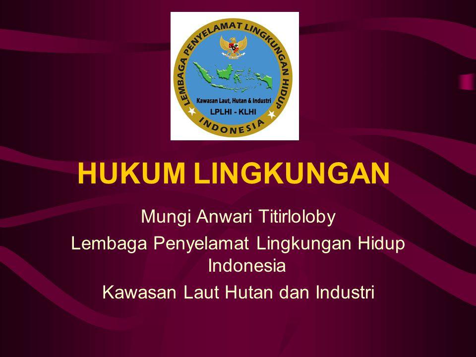 HUKUM LINGKUNGAN Mungi Anwari Titirloloby