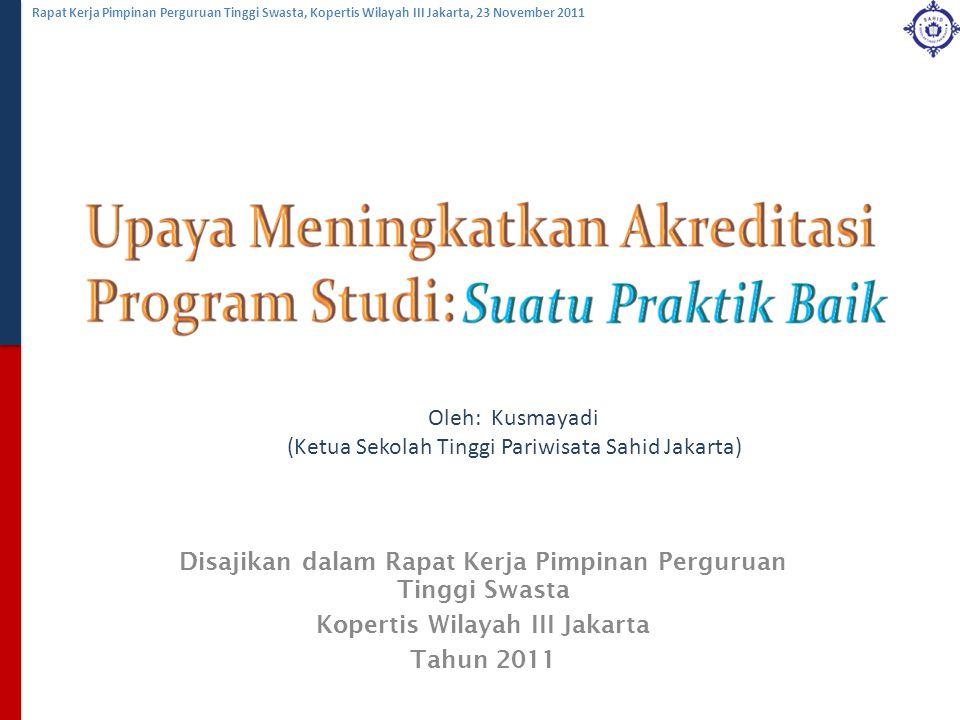 (Ketua Sekolah Tinggi Pariwisata Sahid Jakarta)