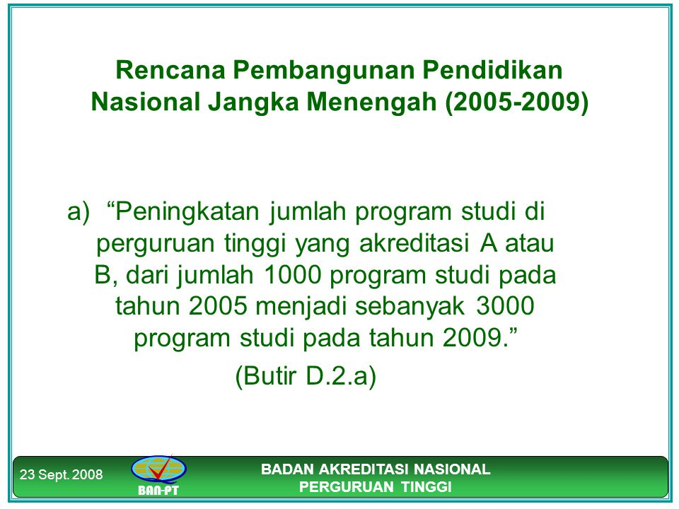 Rencana Pembangunan Pendidikan Nasional Jangka Menengah (2005-2009)