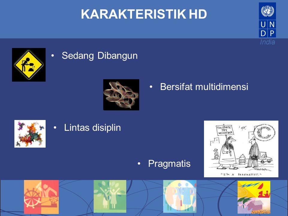 KARAKTERISTIK HD Sedang Dibangun Bersifat multidimensi Lintas disiplin