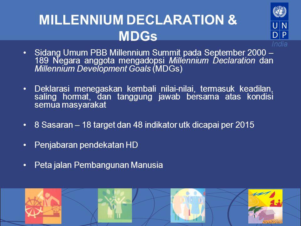 MILLENNIUM DECLARATION & MDGs
