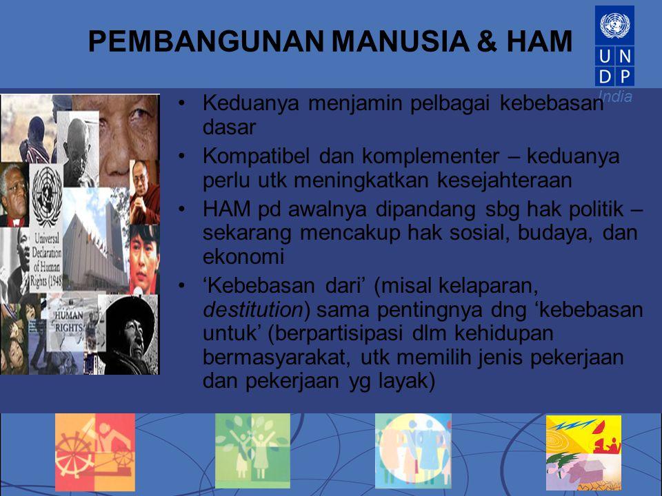 PEMBANGUNAN MANUSIA & HAM