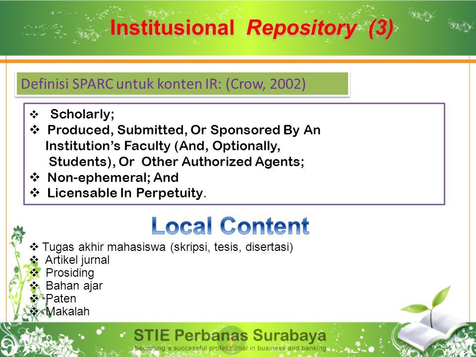 Institusional Repository (3)