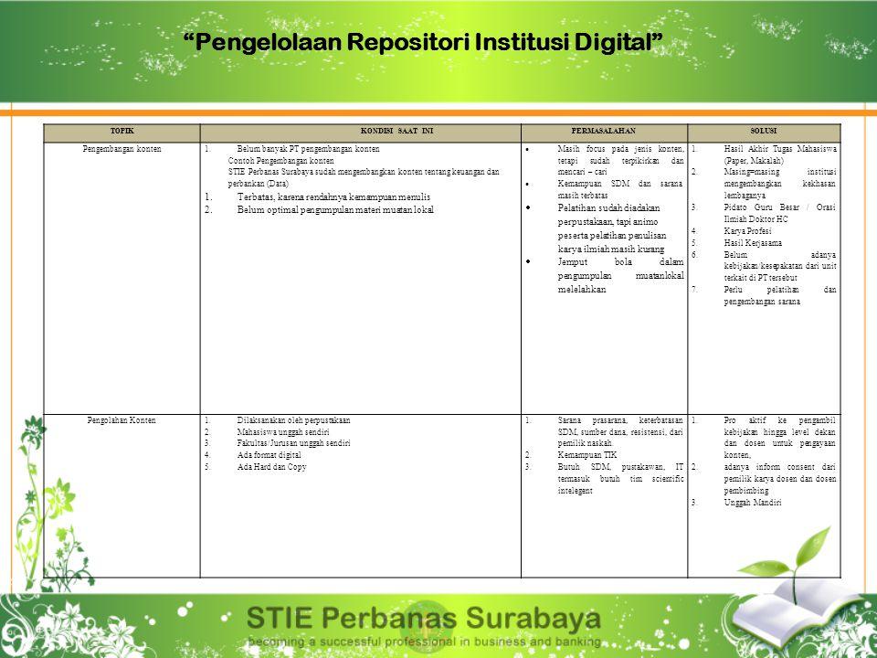 Pengelolaan Repositori Institusi Digital