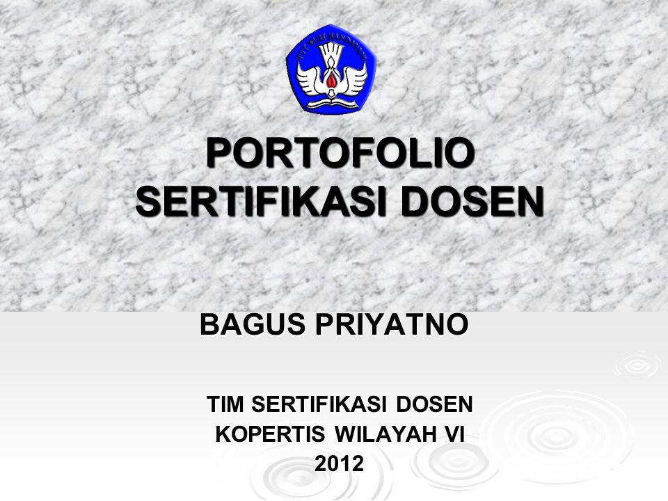 PORTOFOLIO SERTIFIKASI DOSEN