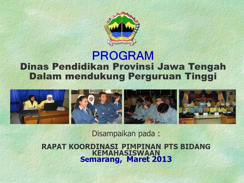 PROGRAM Dinas Pendidikan Provinsi Jawa Tengah