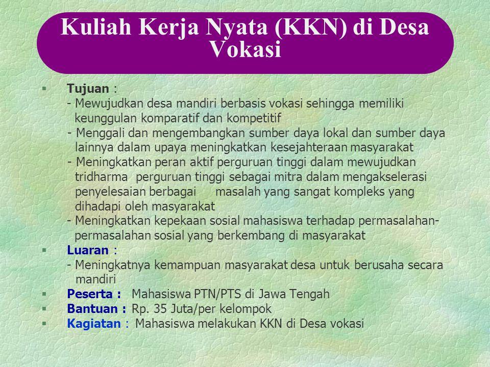 Kuliah Kerja Nyata (KKN) di Desa Vokasi