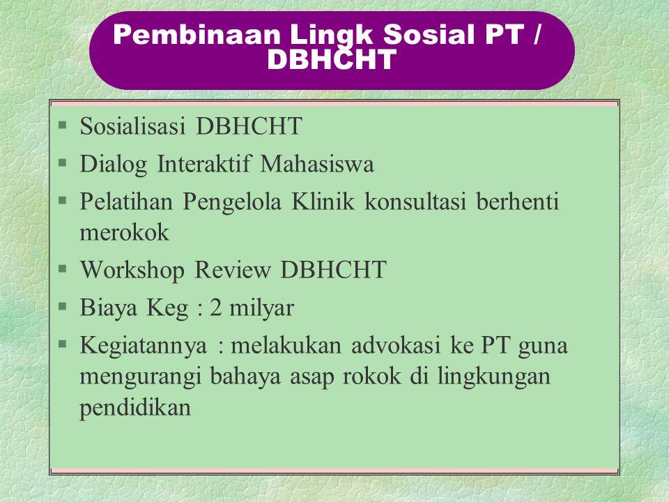 Pembinaan Lingk Sosial PT /